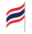 Thailand flag icon isometric 3d style vector image
