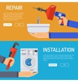 Plumbing Service Banners vector image