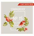 Vintage Autumn Graphic Design for T-shirt Fashion vector image vector image