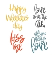 Set of 4 decorative handdrawn lettering vector image