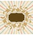 Retro background with vintage floral ornate frame vector image vector image