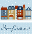 CHRISTMAS CARD HOUSES vector image