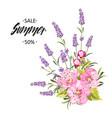 botanical flowers garland vector image