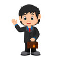 young man in business suit vector image