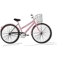classic ladies bike vector image vector image