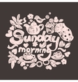 Sunday morning doodles vector image