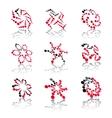 Abstract shape symbols vector image