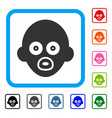 baby head framed icon vector image