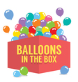 Balloons In The Box vector image