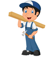 Carpenter cartoon vector image