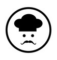chef icon - iconic design vector image