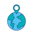 globe world pointer map location web vector image