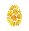 Gold Easter egg vector image