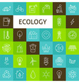 Line Art Ecology Green Power Icons Set vector image