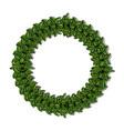 merry christmas wreath crown vector image