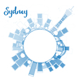 Outline Sydney City skyline with skyscrapers vector image