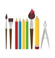 set elements school tolls design vector image