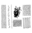 set of hand drawing marker hipster trendy textures vector image