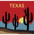 Texas t-shirt design 2 vector image
