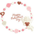valentine candy frame vector image