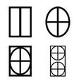 window icon set vector image