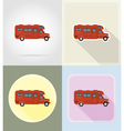 Old retro transport flat icons 12 vector image