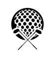 ball club golf sport design vector image