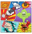 Comics Book Page vector image vector image