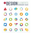 icon set logo design elements vector image