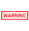 office stamps warning vector image vector image