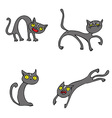 Halloween Cats pack vector image