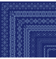 ornate borders with outside corners in Eastern vector image