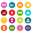 airport icons many colors set vector image