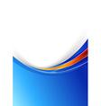 Blue modern folder with metal border design vector image
