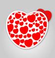 Cute love hearts vector image