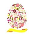 Easter egg from flowers with a tape vector image