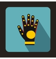 Electronic glove icon flat style vector image
