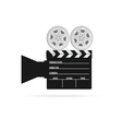 film camera tape black vector image