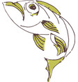 painted fish vector image