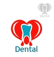 Dentistry or stomatology icon or emblem vector image
