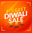amazing biggest diwali sale discount promotional vector image