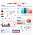 infographic design elements with graph and chart vector image vector image