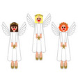 merry christmas images of angels in the vector image