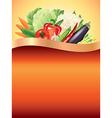 vegetables vertical background vector image vector image