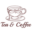 A tea and coffee label vector image vector image