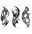 Maori styled tattoo pattern for a shoulder vector image