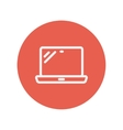 Laptop thin line icon vector image