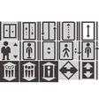 lift icons set vector image