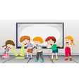 Children being sick at school vector image