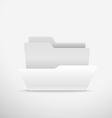 Computer interface folder Open folder illus vector image
